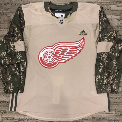 adidas detroit red wings camo salute military jersey