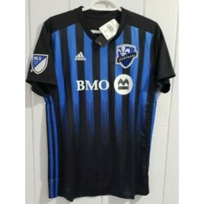 adidas impact montreal home jersey - women's soccer s black/blue