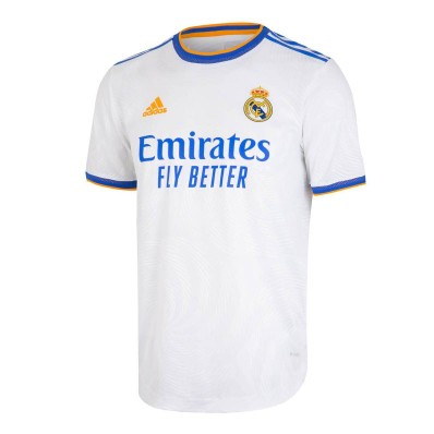 adidas men's real madrid 20/21 home authentic jersey white