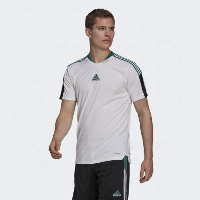 adidas mens white soccer jersey